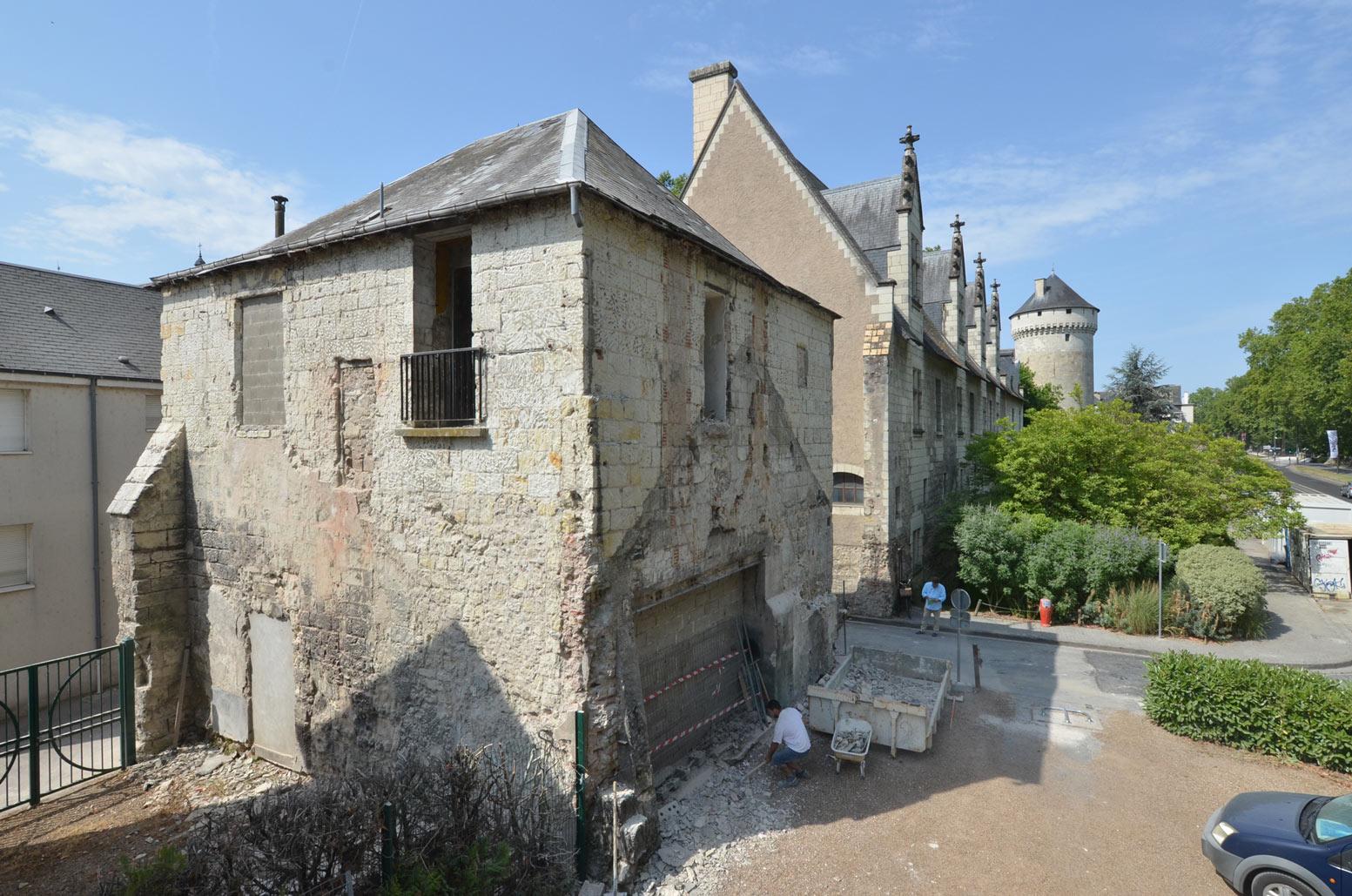 Le site de la future Bibliothèque d'Histoire de la Touraine, avenue André-Malraux à Tours.