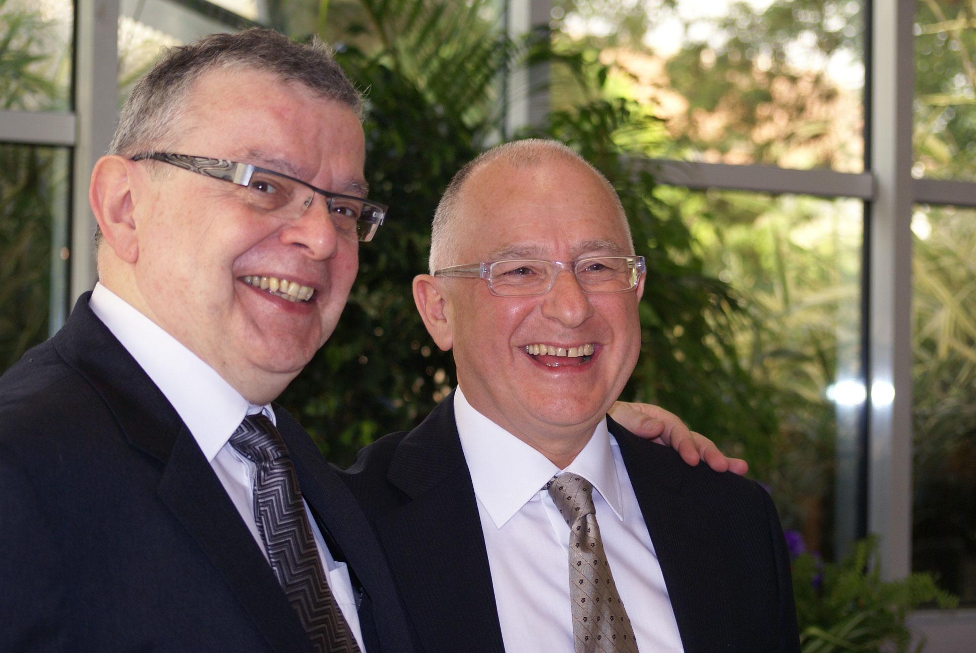 Bernard Deyriès et Jean-Paul Pineau, en 2008.